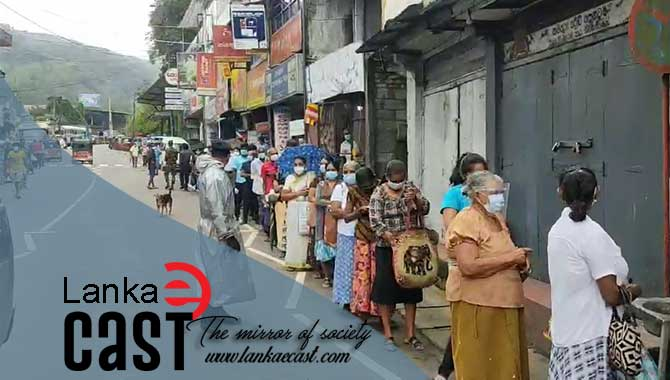 Long queues to get pensions lankaecast